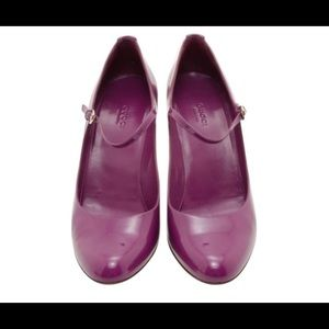 Gucci Purple Patent Mary Janes Pumps